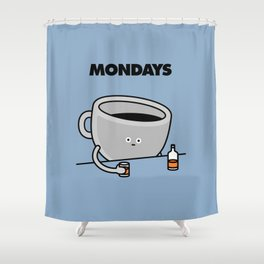 Mondays Shower Curtain