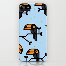 Birds on branches iPhone Case