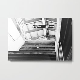 Subway Station in Astoria, Queens in March Metal Print