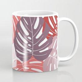 Red monstera deliciosa Coffee Mug