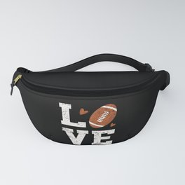 American Football Love Football Player Fanny Pack