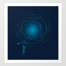 Catch a Star trail Art Print