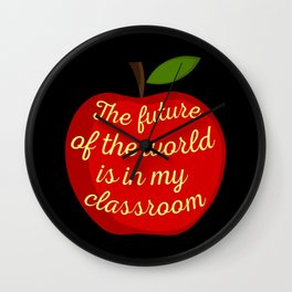 Proud Teacher III Wall Clock