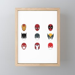 Superhero Masks 3 Framed Mini Art Print