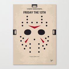 No449 My Friday the 13th minimal movie poster Canvas Print