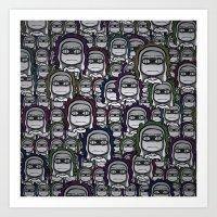 grumpy Art Prints featuring GRUMPY by piemboons