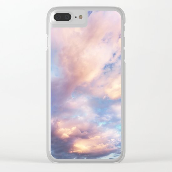 Sunset | Pink Clouds | Sky | Rainbow | Unicorn Colours | Nature Clear iPhone Case