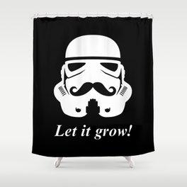 Bearded trooper Shower Curtain