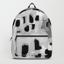 Rexa - abstract minimal modern grey black and white trendy home decor Backpack