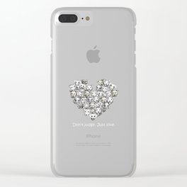 Just Love. (white text) Clear iPhone Case