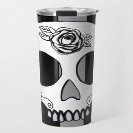 Black and Gray Skull Travel Mug