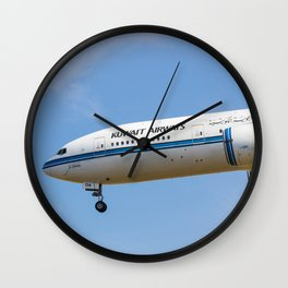 Kuwait Airlines Boeing 777 Wall Clock