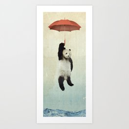 Pandachute Art Print