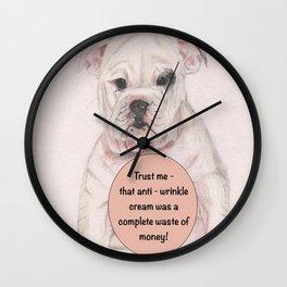 Bulldog humour Wall Clock