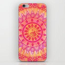 Sun Kissed Mandala Orange Pink iPhone Skin
