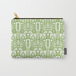 Swedish Folk Art - Greenery Carry-All Pouch