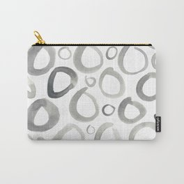 Watercolor O's - Grey Gray Carry-All Pouch