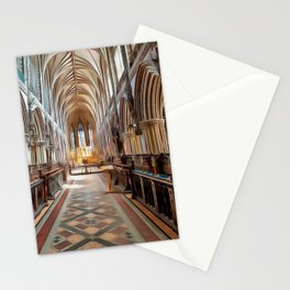 Lichfield Cathedral (Painting) Stationery Cards