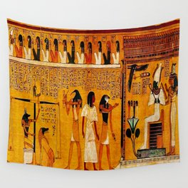 Book of the Dead - Last Judgement of Hu-Nefer - Thebes - Egypt - ca. 1290-1280 BCE - New Kingdom - Dynasty XIX - Ancient Egyptian Text with Spells, Prayers, and Incantations - Amazing Oil painting - Wall Tapestry