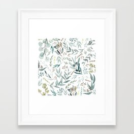 Eucalyptus pattern Framed Art Print