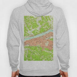 Vintage Map of Huntington West Virginia (1957) Hoody