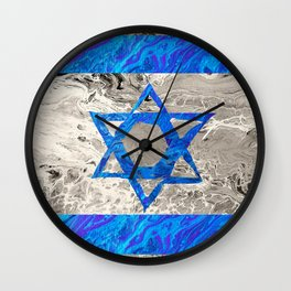 Flag of Isreal Wall Clock