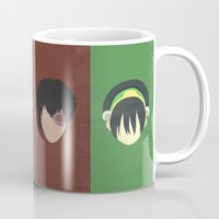 aang Mugs featuring Avatar by Raquel Segal