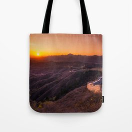 Great wall sunset Tote Bag