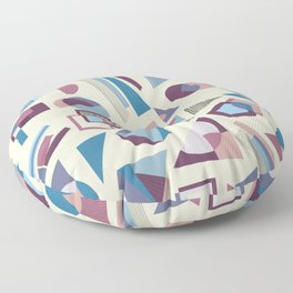 Winter Shapes Pattern in Cream Floor Pillow