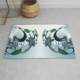 Single but not simple Rug