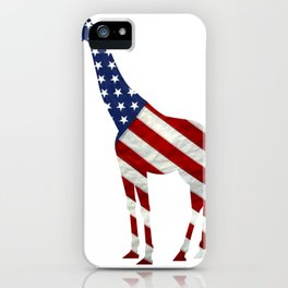 Giraffe Independence Day Boys Girls 4th Of July iPhone Case