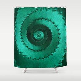 Green Filigree Shower Curtain
