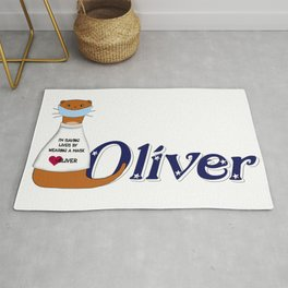 Oliver the Otter Wears a Mask Rug