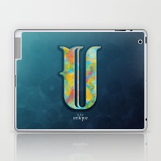 U is for Unique Laptop & iPad Skin