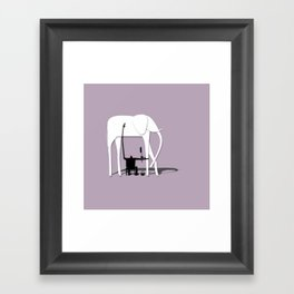Elephant's trip Framed Art Print
