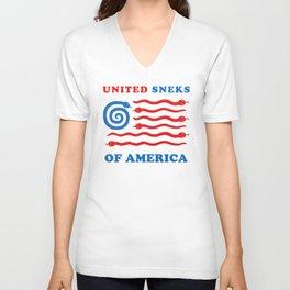 United Sneks Of America Unisex V-Neck
