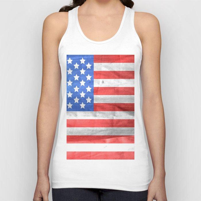 American Flag Unisex Tanktop