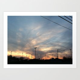The Setting Sun (#1) Art Print