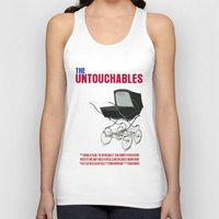 movie poster Tank Tops featuring The Untouchables Movie Poster by FunnyFaceArt