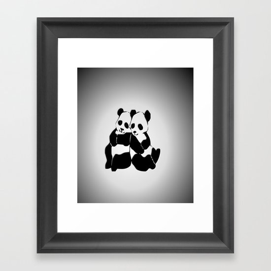 Panda Bears Framed Art Print
