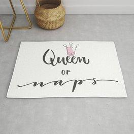 Queen of Naps quote Rug