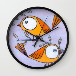 Yellow Peeps Wall Clock