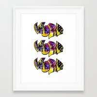 word Framed Art Prints featuring Word! by irene ein