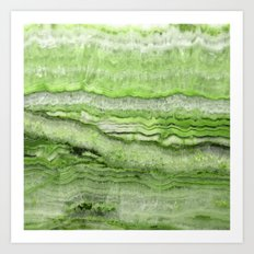Mystic Stone - Grassy Art Print