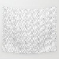 herringbone Wall Tapestries featuring Herringbone DIY by Project M