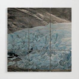 Blue Ice Glacier range in Norway - Landscape Photography Wood Wall Art