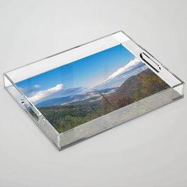Blue Ridge Peaks Acrylic Tray
