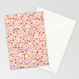 Small hearts pattern Stationery Cards