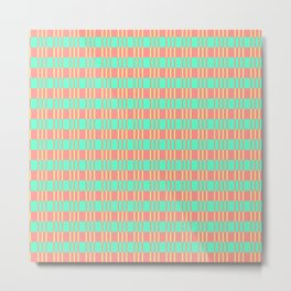 Basketwork Pattern Pastel Colors Metal Print