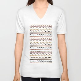 Line ornament Unisex V-Neck